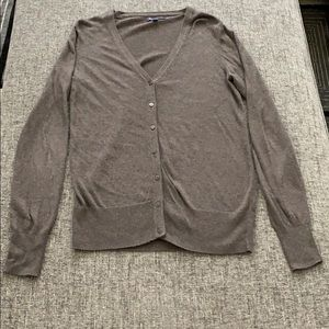 Brown v-neck cardigan from GAP